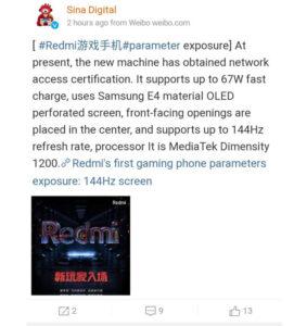 Redmi Gaming Leak