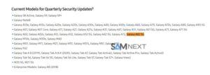 Samsung Galaxy A82 5G Security Updates